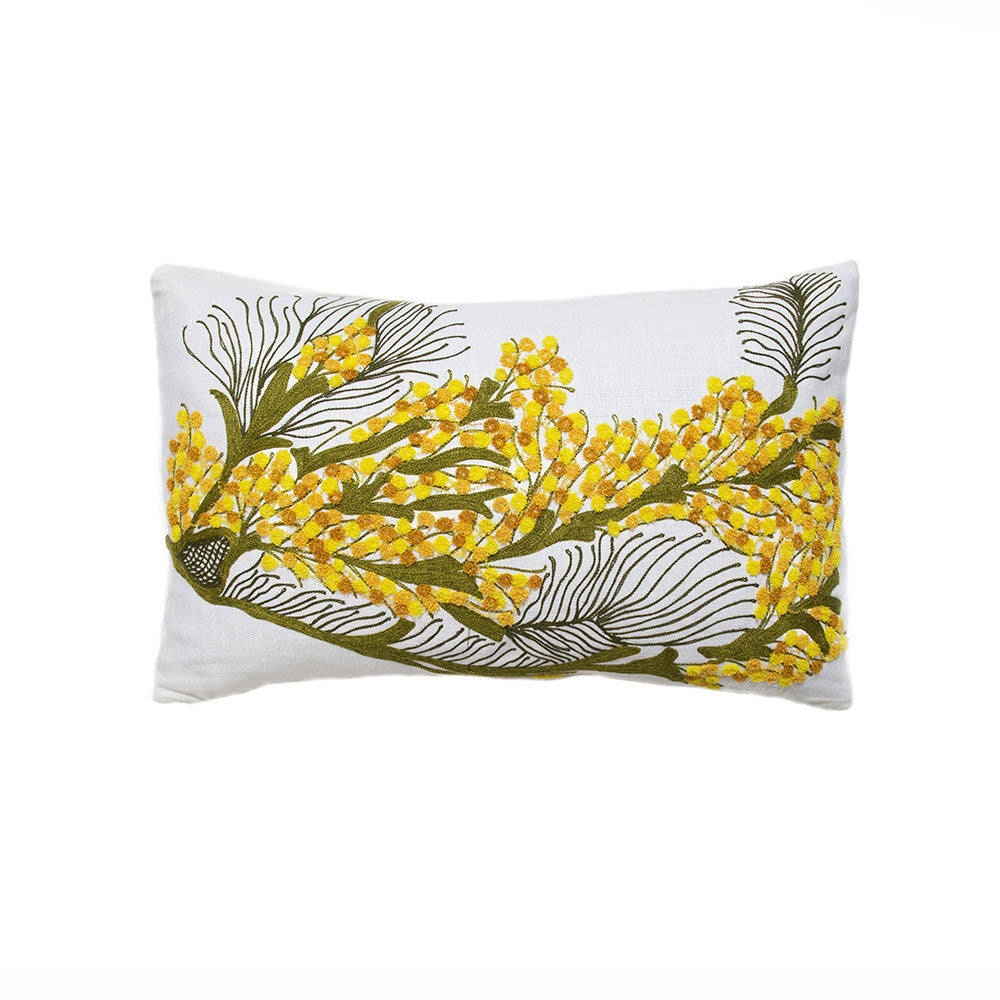 Bokja Embroidered Mimosa Cushion