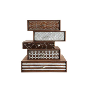 Nada Debs Patchwork Stackable Jewelry Box