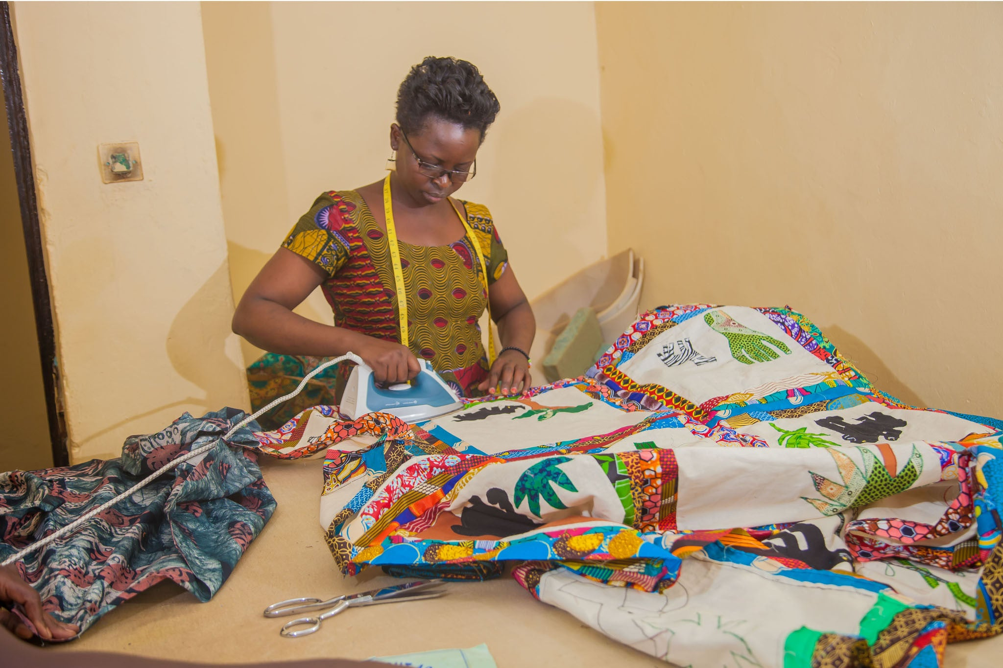 African handcrafted quilt