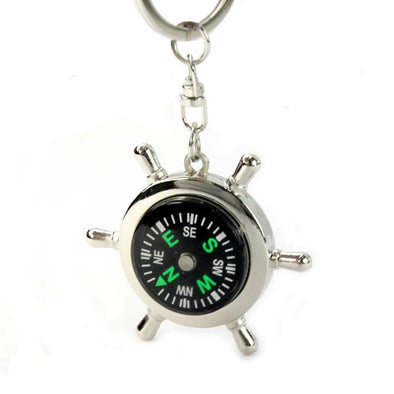 Keychain - Portable Alloy Nautical Compass Keychain
