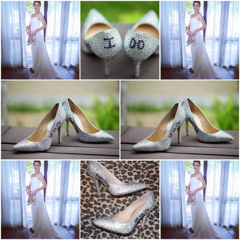 wedding shoes bling bridal shoes