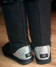 Black UGG Tall Boots With Swarovski Crystals