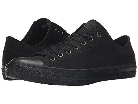 All Star Black Mono Converse With Crystal Diamonds