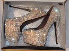 AB Crystal Diamonds Heels
