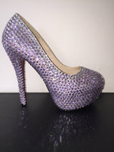 Violet Purple Crystal Diamond Heels