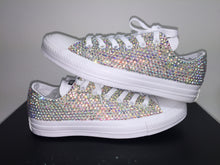 All Star White Mono Converse With Crystal AB Diamonds