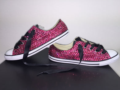 cute glam converse crystals by nicole