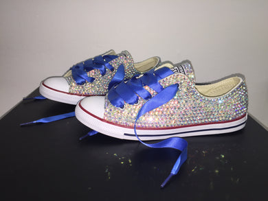 Royal Blue Dainty Converse Crystals By Nicole