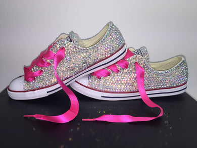 Dainty Converse Hot Pink Crystals By Nicole