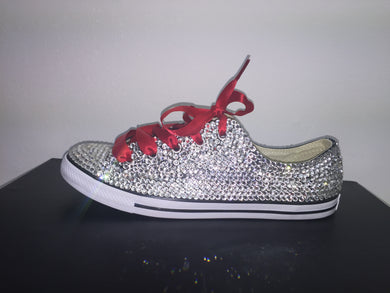 Red Ribbon Converse Crystals By Nicole