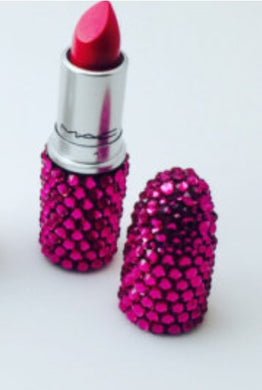 MAC Bedazzled Lipstick In Hot Pink Crystals