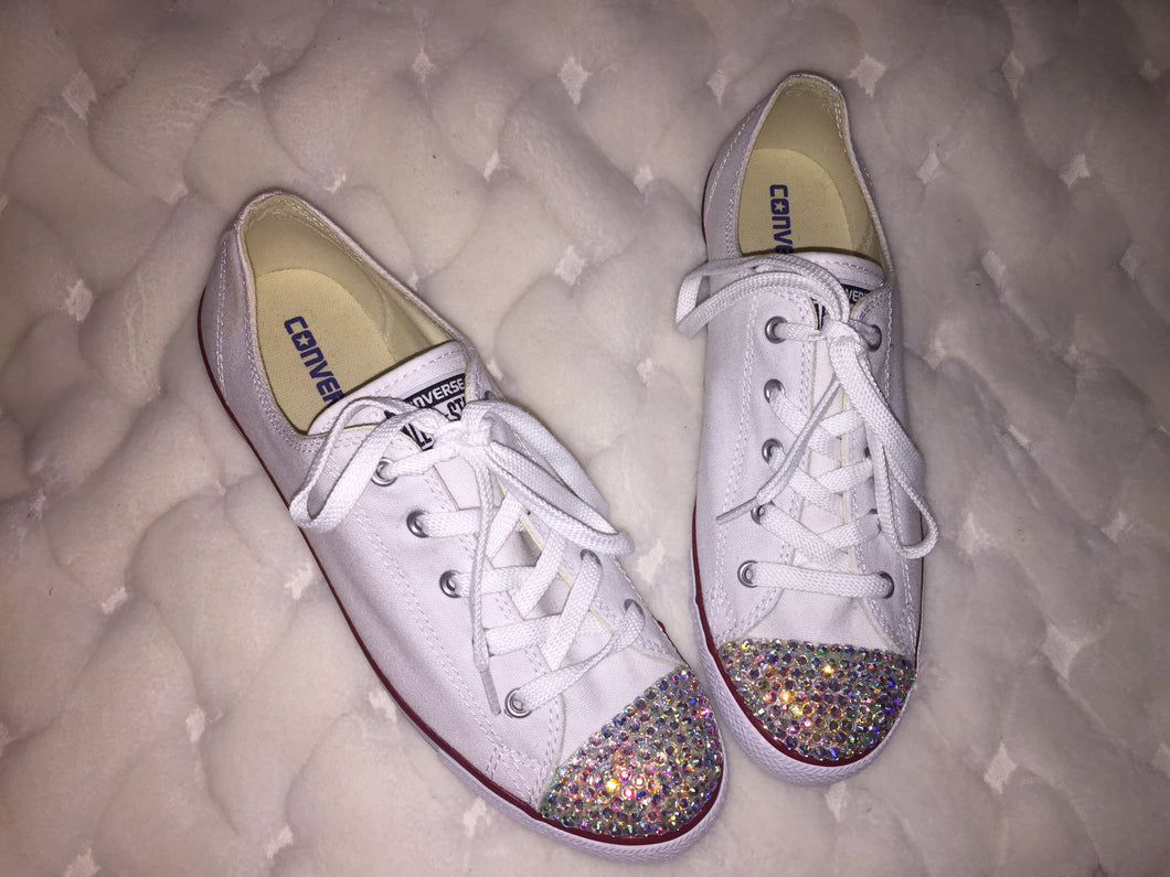 bf19971c5a8a Copy of Dainty All Star Converse With Swarovski AB Crystal ...