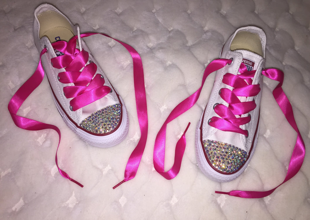 c28e89fd9fd3 Chuck Taylor Converse Crystal Bedazzled Fronts Bling Sparkly ...