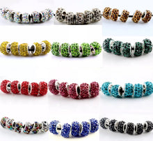 Murano Style Diamante Charms Choose Your Colour