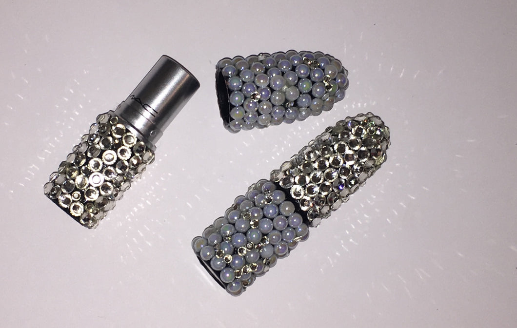 MAC Bedazzled Lipstick In Crystal & AB Pearl
