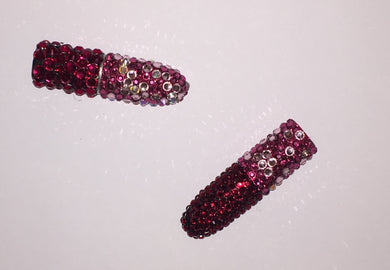 MAC Bedazzled Crystal Lipstick In Rockstar Pink & Siam Red