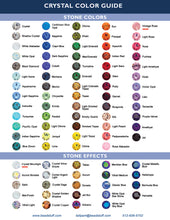 Custom Crystal Colour Chart Crystals By Nicole