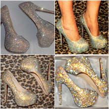 Crystal AB Diamond Heels