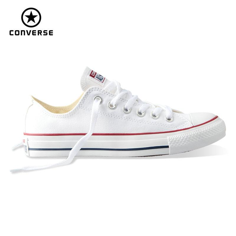 All Star Converse With AB Crystal & Crimson Ribbon Laces