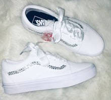 Old Skool Leather Vans With Swarovski Crystals