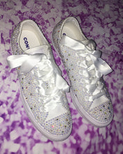 All Star Mono Converse With AB Pearls & AB Diamonds