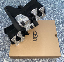 Black UGG Bailey EXTRA Bow Short Boots With Swarovski Crystals