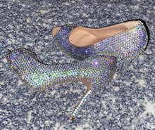 Moonstone Crystal Diamonds Peeptoe Heels