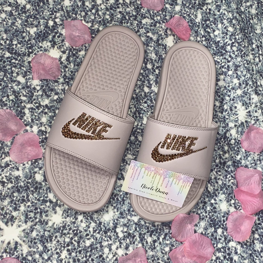 Bedazzled With Rose Gold Crystal Nike