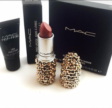 MAC Bedazzled Crystal Lipstick In Rose Gold
