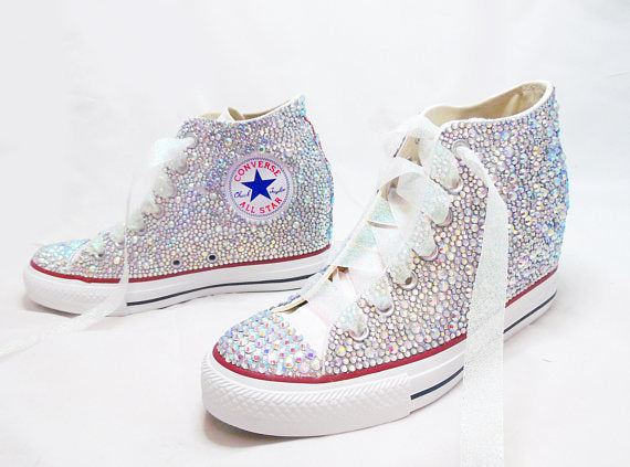 converse vintage white,pink converse wedges,converse sparkly