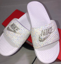 Diamonds & Pearls Nike Slides In White