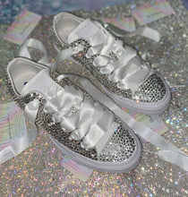 All Star Mono Converse With Luxury Crystal Diamonds