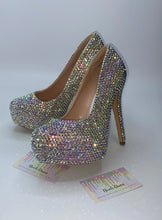 AB Crystal Swarovski Element Diamond Semi Platform Heels