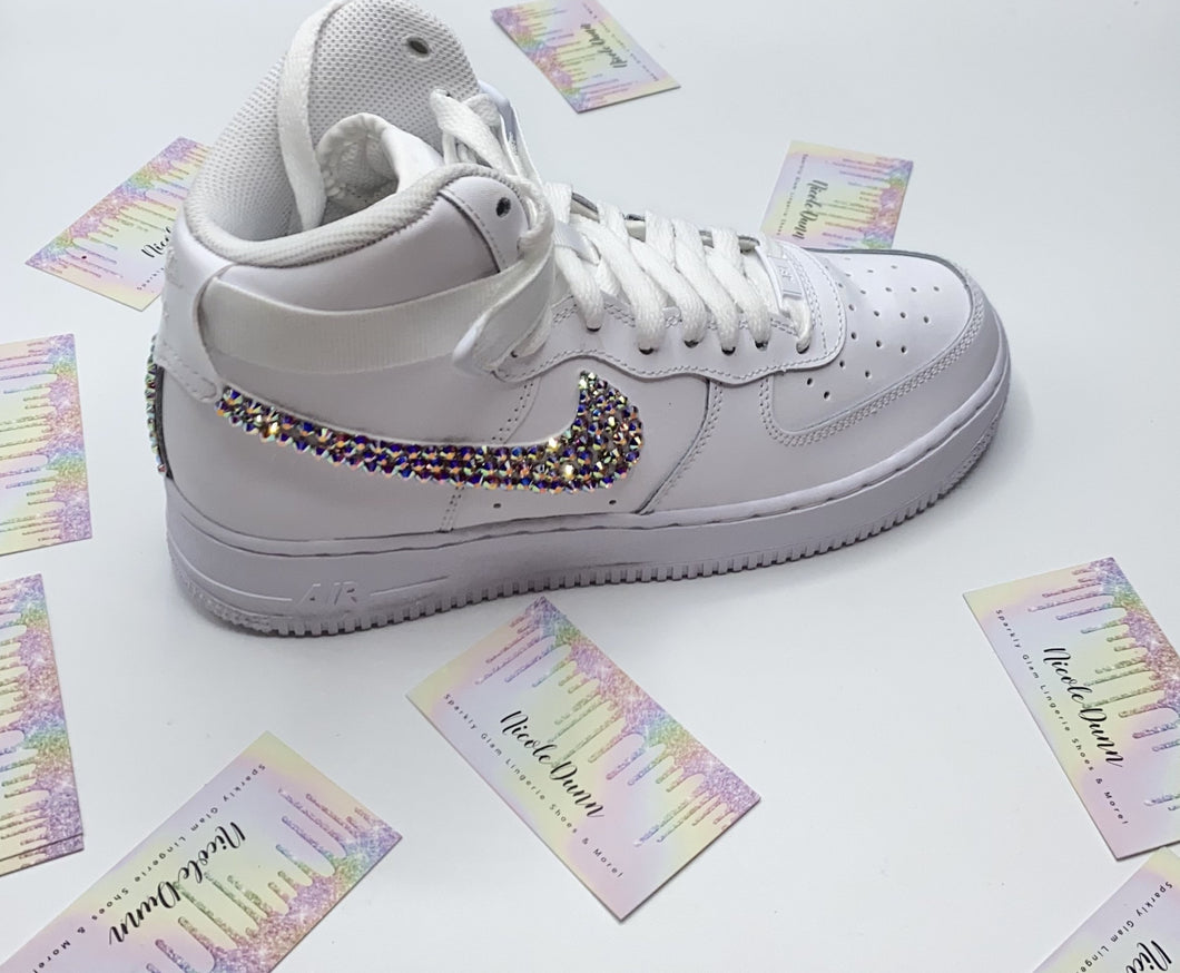 Swarovski Crystal AB Iridescent Nike AirForce 1's High Tops