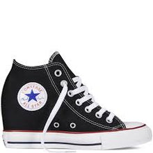 All Star Original Hi Top Wedges Style Converse With AB Diamonds & Ribbon Laces,