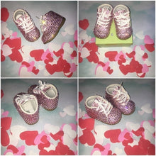Limited Edition Baby Bling Booties In Light Rose Pink Crystal Size 3W
