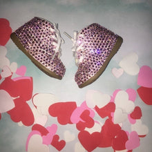 Limited Edition Baby Bling Booties In Light Rose Pink Crystal Size 4W