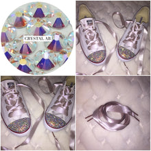 Dainty All Star Converse With AB Crystal & Mink Ribbon Laces