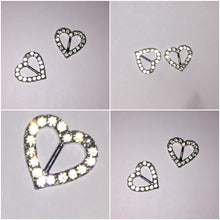 Diamante Heart Charms Crystals By Nicole