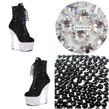 "Platform Booties ""Skys The Limit"" Swarovski Crystal Boots"