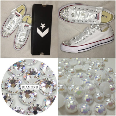 1bbaa0e851259a All Star Converse Toes   Ribbons – Crystals By Nicole X Luxury Glam ...
