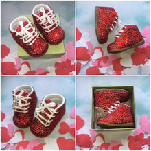 Limited Edition Baby Bling Booties In Red Crystal Size 4W
