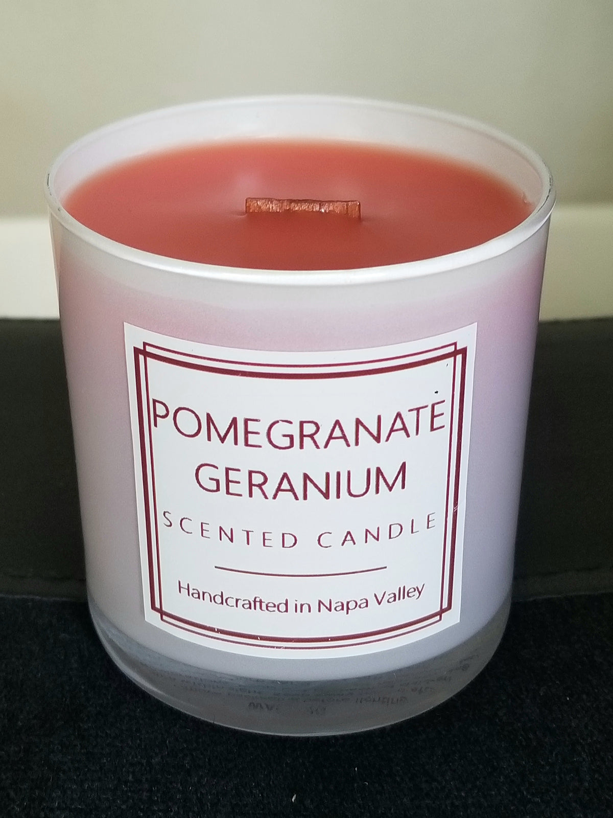 Scented Candle - Pomegranate Geranium