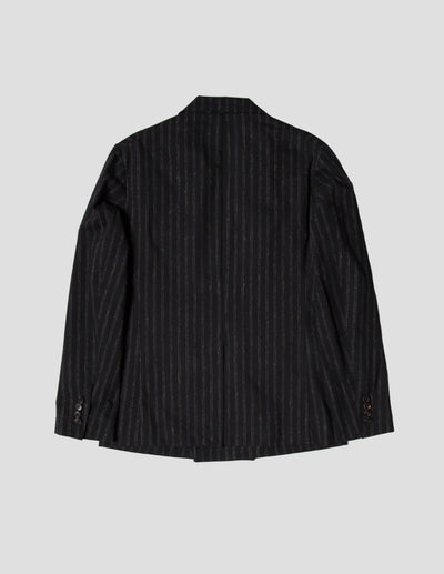 Kapatid - Double Breasted Jacket in Chalk Stripes - Back