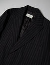 Kapatid - Chalk Stripe Top Coat  - Made in the USA - Lapel