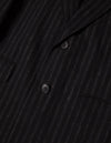 Kapatid - Chalk Stripe Top Coat - Made in the USA - Button