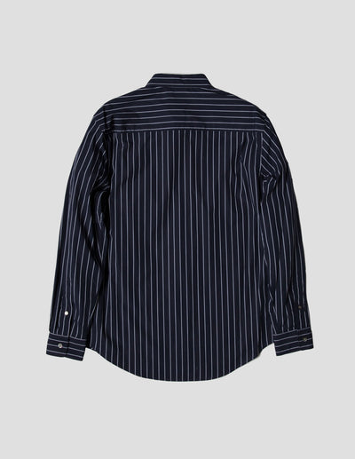 Kapatid - Gray and Navy Striped Dress Shirt - Made in the USA - Back