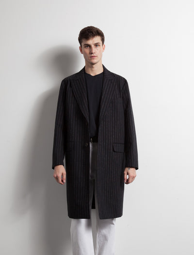 Kapatid - Chalk Stripe Top Coat - Made in the USA - Model