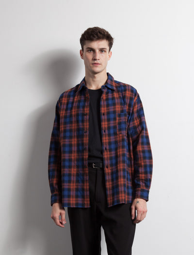 Kapatid - Wide Plaid Shirt - Made in the USA - Model