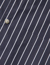 Kapatid - Gray and Navy Striped Dress Shirt - Made in the USA - Button